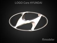Huindai 3d Logo 3D Model