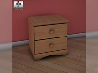 Ashley Benjamin Nightstand 3D Model