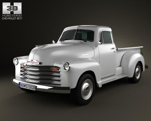 chevrolet advance design pickup 1951 3d model. Black Bedroom Furniture Sets. Home Design Ideas