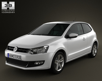 Volkswagen Polo 3door 2010 3D Model