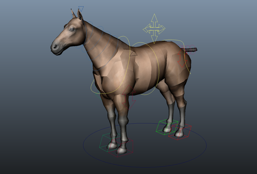 Quadruped Rigger -- automated rigging for four legged characters for Maya
