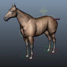 Quadruped Rigger -- automated rigging for four legged characters for Maya 1.1.1 (maya script)