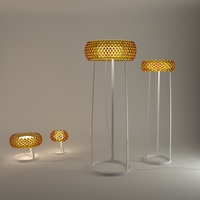 Foscarini Caboche table and floor lamps 3D Model