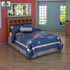 Ashley Benjamin Bed 3D Model