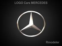 Mersedes 3d Logo 3D Model
