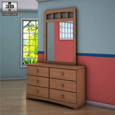 Ashley Benjamin Dresser & Mirror 3D Model