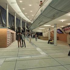 Lobby, entrance interior scene 3D Model