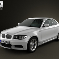 BMW 1-series 3door coupe 2009 3D Model