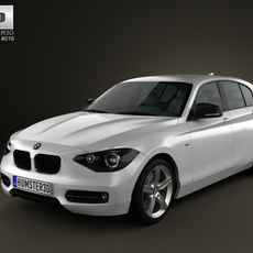 BMW 1-series 5door 2011 3D Model