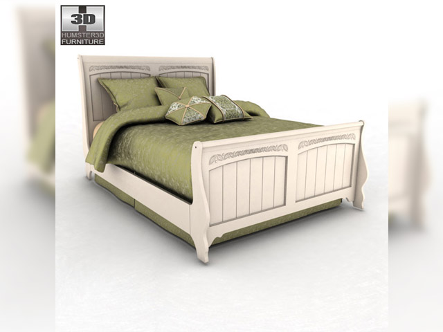 Ashley cottage retreat full sleigh bed 3d model for Cottage retreat ii bed