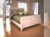 Ashley Cottage Retreat Full Sleigh Bed 3D Model