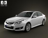 Subaru Legacy sedan 2010 3D Model