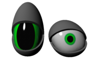 Free Deformable Toon Eye 3D Model