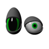 Deformable Toon Eye 3D Model
