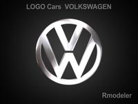 VW 3d Logo 3D Model