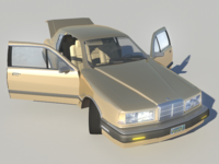 1986 Ford Mercury Cougar LS V8 5.0L 302 3D Model