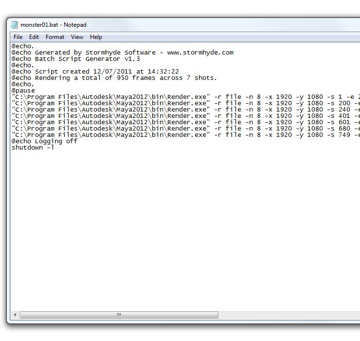 Batch Script Generator