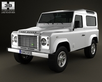 Land Rover Defender 90 StationWagon 2011 3D Model