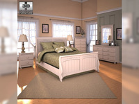 Ashley Cottage Retreat Sleigh Bedroom Set 3D Model