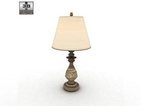 Ashley Cottage Retreat Table Lamp 3D Model
