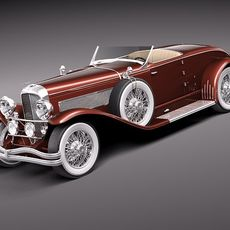 Duesenberg SJ Roadster 1935 3D Model