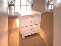 Ashley Cottage Retreat Nightstand 3D Model