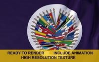 OAS 3d Flag 3D Model