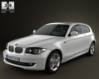 BMW 1-series 3 door 2009 3D Model