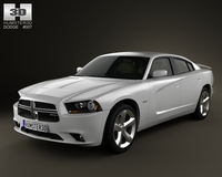 Dodge Charger 2011 with HQ Interior 3D Model
