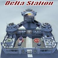 Delta Station 3D Model