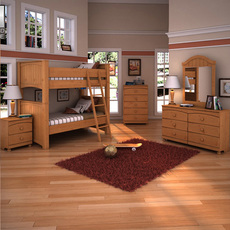 Ashley Stages Bunk Bedroom Set 3D Model