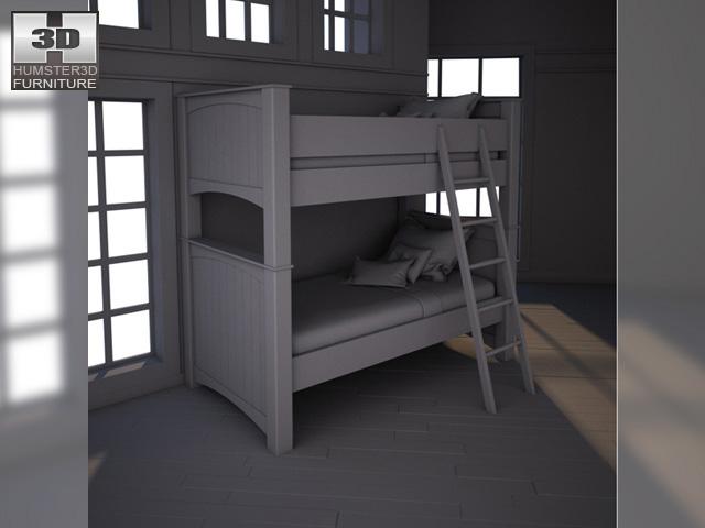 Ashley stages bunk bedroom set 3d model for Stages bedroom collection