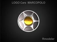 Marcopolo 3d Logo 3D Model