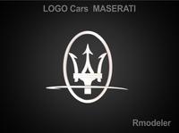Maserati 3d Logo 3D Model