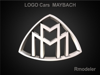 Maybach 3d Logo 3D Model