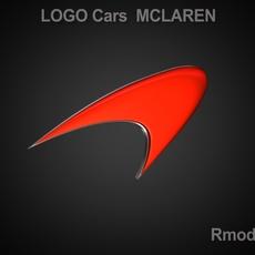 McLaren 3d Logo 3D Model