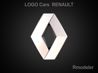 Renault 3d Logo 3D Model