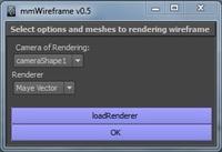 Free mmWireframe for Maya 0.5.0 (maya script)