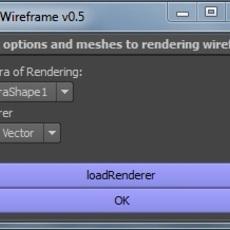 mmWireframe for Maya 0.5.0 (maya script)