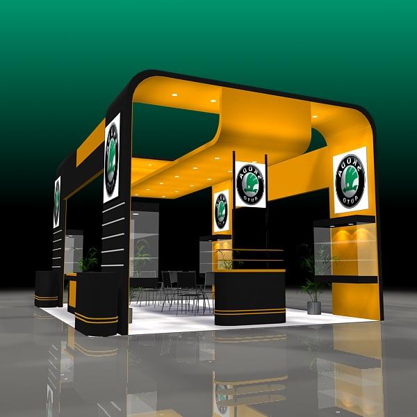 Exhibition Stand 3d Model Sketchup : Showroom design exhibit d model
