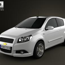 Chevrolet Aveo 3door 2009 3D Model