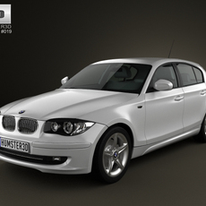 BMW 1-series 5 doors 2009 3D Model