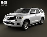 Toyota Sequoia 2011 3D Model