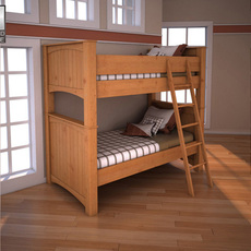 Ashley Stages Twin Bunk Bed 3D Model