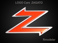 Zagato 3d Logo 3D Model