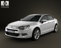 Citroen C5 Saloon 2011 3D Model