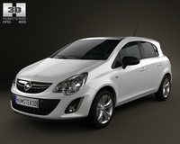 Opel Corsa 5door 2011 3D Model