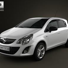 Opel Corsa 5door 2011 3D Model