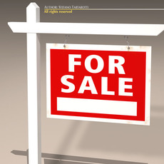 For sale notice 3D Model