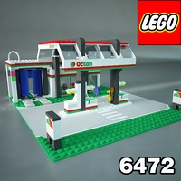 LEGO 6472 Octan Gas Station 3D Model